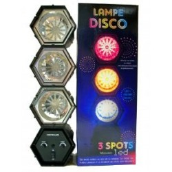 LAMPE LED DISCO 3 SPOTS modulables