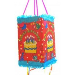"PINATA ""HAPPY BIRTHDAY"" 17 x 17 x 30 cm"