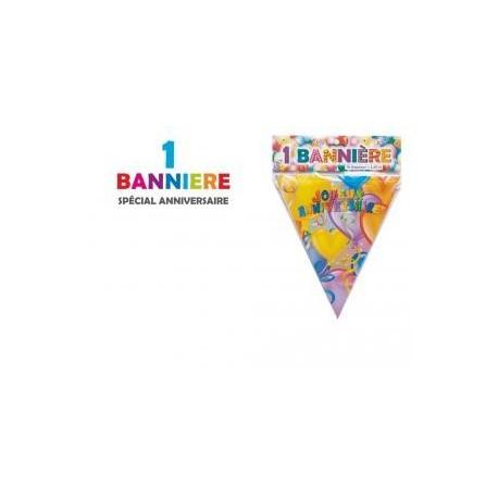 ANNIVERSAIRE : BANNIERE 10 FANIONS