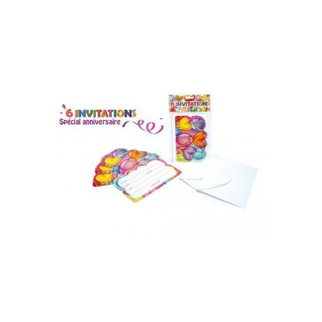 ANNIVERSAIRE : CARTONS D'INVITATION