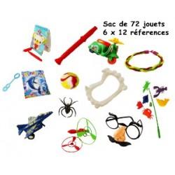 SAC DE 72 JOUETS ( 12 réfs X 6 )