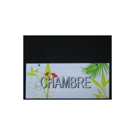 PLAQUE DE PORTE METAL émaillé 19 x 8 cm