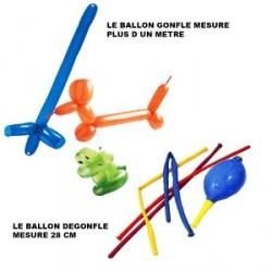 SACHET DE 4 BALLONS A MODELER AVEC UNE POMPE
