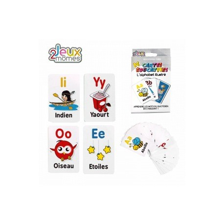 CARTES EDUCATIVES L'ALPHABET ILLUSTRE