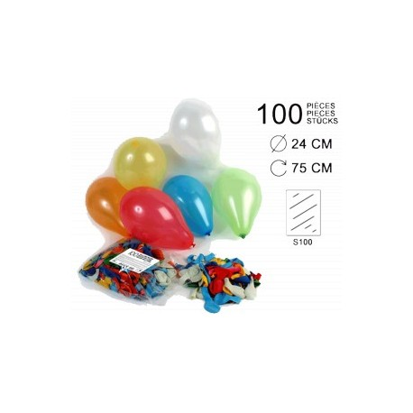 100 BALLONS SPECIAL HELIUM