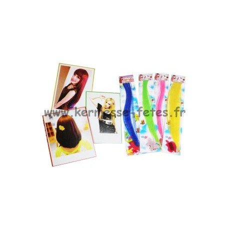PLAQUE DE MECHE DE CHEVEUX COLOREES + CLIP