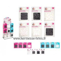PLAQUE DE 40 STICKERS D ONGLES
