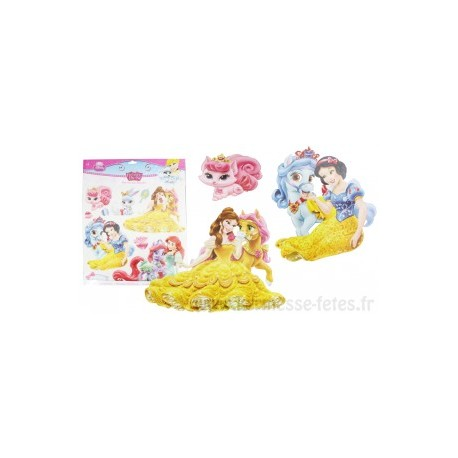 "PLANCHE STICKERS / DECORATIONS MURALE "" PRINCESSES DISNEY"" 28 x 28 cm"