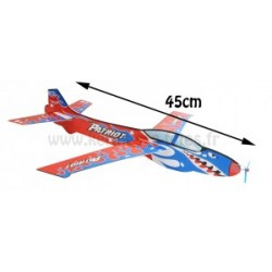 AVION PLANEUR A MONTER STYRO 45 X 43 cm + HELICE