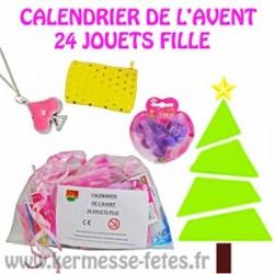 SAC DE 24 JOUETS FILLE SPECIAL CALENDRIER DE L'AVENT