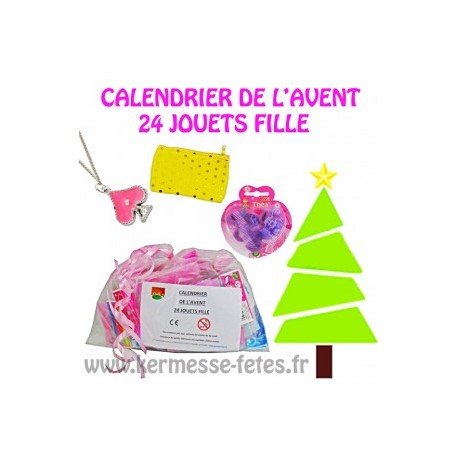 sac de 24 jouets fille special calendrier de l 39 avent. Black Bedroom Furniture Sets. Home Design Ideas