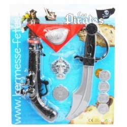 SET PISTOLET + EPEE + ACCESSOIRES PIRATE