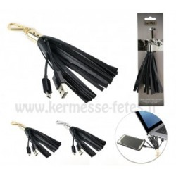 PORTE CLEFS CABLE CHARGEUR SYNCHRO SMARTPHONE USB