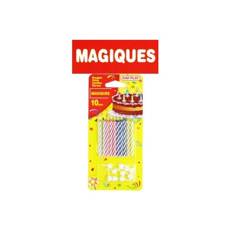 BOUGIES MAGIQUES x 10 + BOBECHES