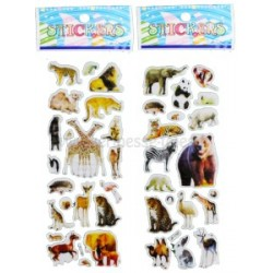 AUTOCOLLANTS RELIEF ANIMAUX SAUVAGES