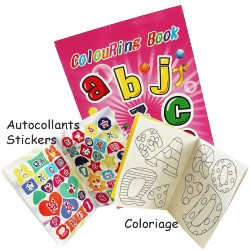 ALBUM A COLORIER + STICKERS 14 x 21 cm