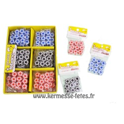 SACHET DE 9 GOMMES BALLON DE FOOTBALL Ø 12mm
