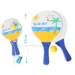 SET 2 RAQUETTES BEACH BALL + BALLE