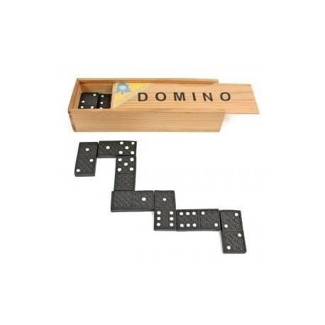 JEU DE DOMINOS + BOÎTE EN BOIS 15 x 5 x 3 cm