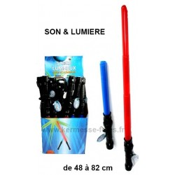 SABRE LASER TELESCOPIQUE LUMINEUX & SONORE
