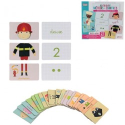 CARTES EDUCATIVES METIERS + CHIFFRES
