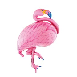 BALLON ALUMINIUM FLAMAND ROSE 70cm