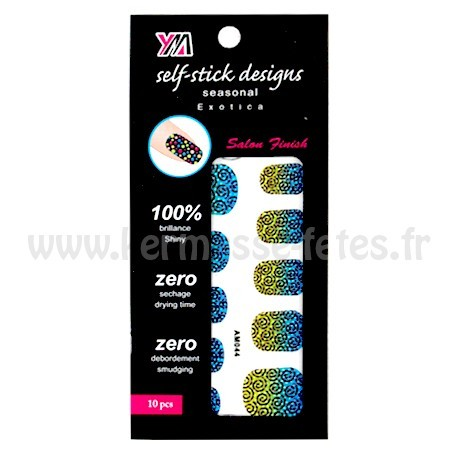 PLAQUE STICKERS ONGLES DESIGN  - 10 PIÈCES