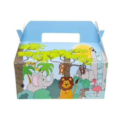 "BOITE CARTON LUNCH BOX GM "" JUNGLE """