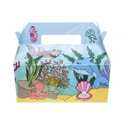 """BOITE CARTON LUNCH BOX GM """" ocean """""""