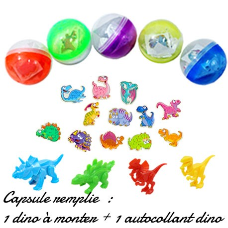 CAPSULE DINO : 2 JOUETS DINO À COLLECTIONNER