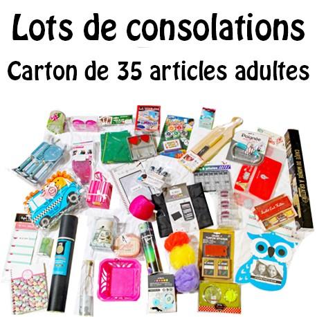 COLIS DE 35 ARTICLES ADULTES pour TOMBOLA / CONCOURS