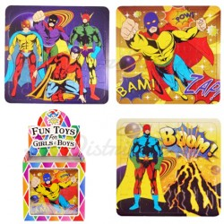 "PUZZLE CARTON LEGER 13x12cm "" SUPER HERO """