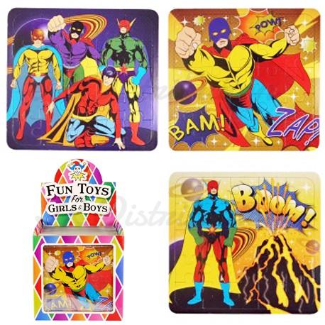 """PUZZLE CARTON LEGER 13x12cm """" SUPER HERO """""""