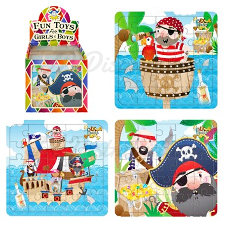 "PUZZLE CARTON LEGER 13x12cm "" PIRATE """