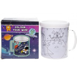 "MUG / TASSE A COLORIER "" SPACE """