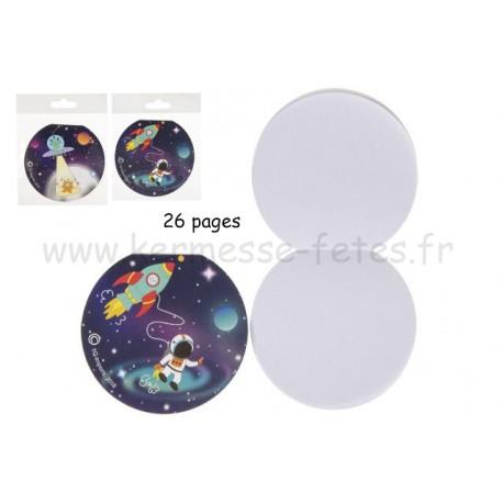 """CARNET  """" SPACE """" Ø 8.5cm 26 pages"""