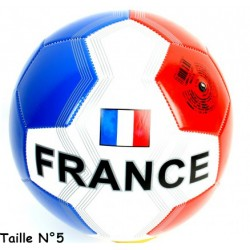 "BALLON DE FOOT SIMILI-CUIR Taille N° 5 "" FRANCE """